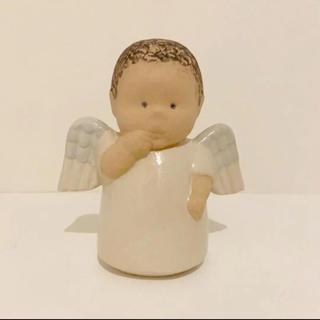 リサラーソン(Lisa Larson)のリサラーソン 天使 キャンドルホルダー 置物(置物)