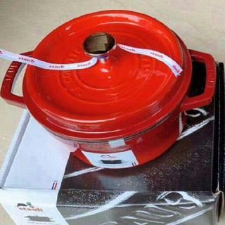 ストウブ(STAUB)の24cm 鋳鉄STAUBエナメル鍋即購入ok!フランスの有名シェフ達によ(調理道具/製菓道具)