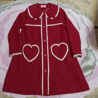 Shirley Temple - シャーリーテンプル コート 赤 130㎝ ハート