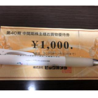 ビックカメラ 株主優待 1000円分★(ショッピング)
