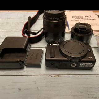 キヤノン(Canon)の美品。Canon EOS M2 Wレンズキット BK(ミラーレス一眼)