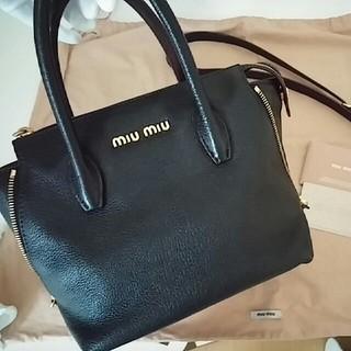 miumiu - ミュウミュウ マドラス ハンドバッグ ブラック 黒 ポシェット ショルダー