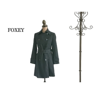フォクシー(FOXEY)のFOXEY トレンチコート ブラック レディース(トレンチコート)
