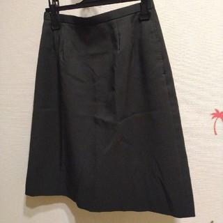 【クリーニング済】ヤギコーポレーション 事務服 スカート 11号 ブラック