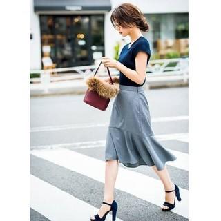 GU - ペプラムタイトスカート 膝丈スカート ボトムス 秋冬 ファッション