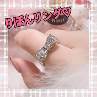りぼんリング 地雷系 量産型 ピンク 指輪 姫 プリンセス(リング(指輪))