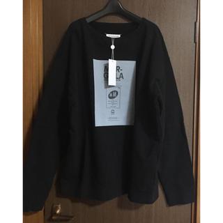 Maison Martin Margiela - 48新品 メゾン マルジェラ オーバーサイズ ロゴ スウェット シャツ ブラック