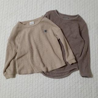 フタフタ(futafuta)の2点セット まとめ売り ロンT ワッフル(Tシャツ/カットソー)