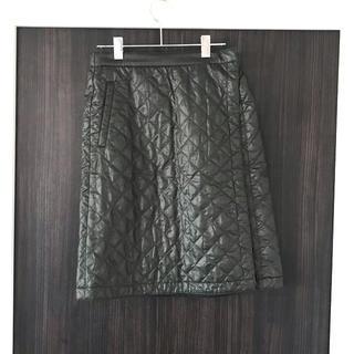 UNIQLO - ユニクロ 防寒 巻きスカート キルティング カーキ