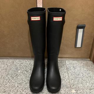 ハンター(HUNTER)のHUNTER ORIGINAL REFINED レインブーツ UK4 黒(レインブーツ/長靴)