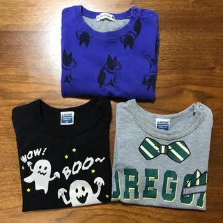 ブランシェス(Branshes)の長袖Tシャツ 3枚セット 90cm(Tシャツ/カットソー)