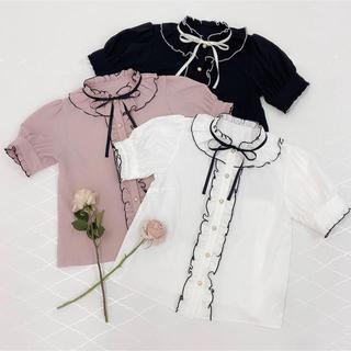 アンクルージュ(Ank Rouge)のAnk Rouge トップス (ピンク)(シャツ/ブラウス(半袖/袖なし))
