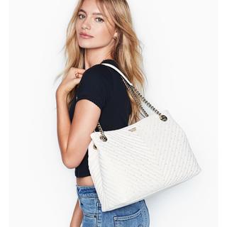 ヴィクトリアズシークレット(Victoria's Secret)の新作✨可愛いトートバッグ VS 新品タグ付き ホワイト(トートバッグ)
