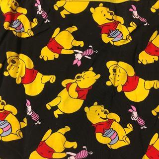 クマノプーサン(くまのプーさん)のディズニー:くまのプーさん 総柄 前閉じ ボクサー パンツ★ブラック L(ボクサーパンツ)