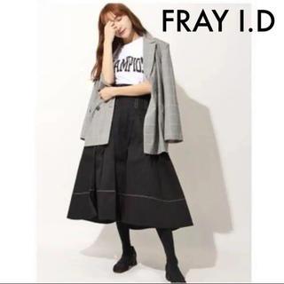 フレイアイディー(FRAY I.D)のFRAY I.D × Dickies 大人気 ウエスト タック フレア スカート(ロングスカート)