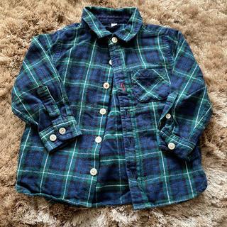 ムジルシリョウヒン(MUJI (無印良品))のMUJI 無印良品 チェック ネルシャツ 90 (ブラウス)