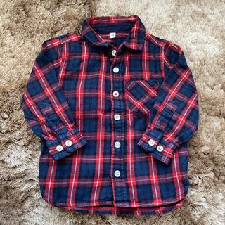 ムジルシリョウヒン(MUJI (無印良品))のMUJI 無印良品 チェック ネルシャツ 90(ブラウス)