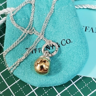 Tiffany & Co. - ジャンク品 TIFFANY ボールネックレス 750&925