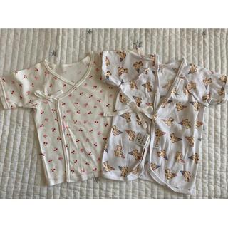 ミキハウス(mikihouse)の新生児 短肌着 コンビ肌着 2枚セット(肌着/下着)