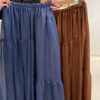 フロムファーストミュゼ(FROMFIRST Musee)のフロムファーストミュゼ スカート blue(ロングスカート)