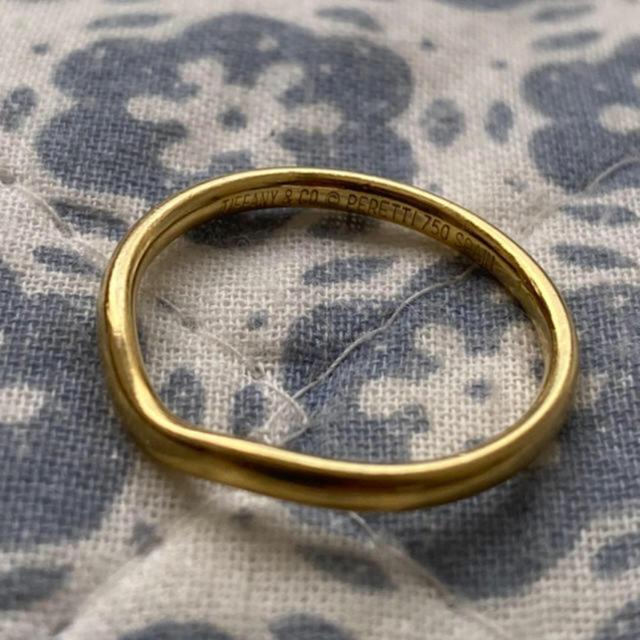 Tiffany & Co.(ティファニー)のTiffany&co ティファニー シンプル ゴールドリング 13号 18k金 レディースのアクセサリー(リング(指輪))の商品写真