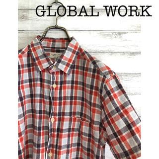 グローバルワーク(GLOBAL WORK)のグローバルワーク チェックシャツ 古着 半袖 GLOBAL WORK(シャツ)
