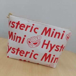 ヒステリックミニ(HYSTERIC MINI)のヒスミニ 大きめポーチ❤️🖤❤️HYSTERIC MINI(ポーチ)
