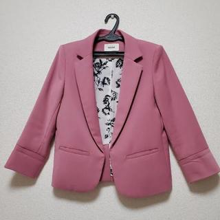 スナイデル(snidel)の♡Snidel♡スナイデル ピンク厚地ジャケット花柄♡lilybrown 好きに(テーラードジャケット)