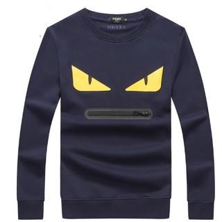 フェンディ(FENDI)の人気新品 メンズ POLOシャツ 無地 コットン 長袖  2枚9999円(Tシャツ/カットソー(七分/長袖))