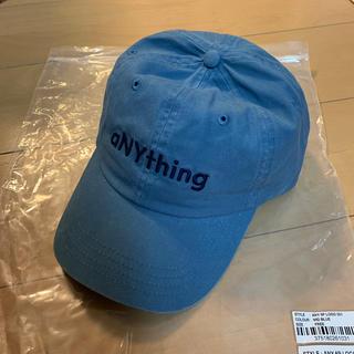 エニシング(aNYthing)のaNYthing 6P Solid Logo CAP アパートメント キャップ(キャップ)