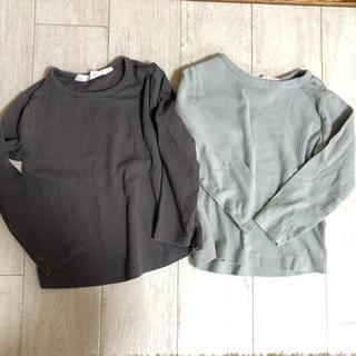H&M - H&M リブ長袖Tシャツ 92センチ