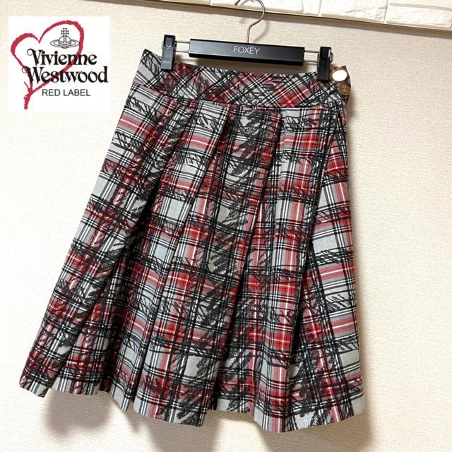Vivienne Westwood(ヴィヴィアンウエストウッド)のVivienne Westwood RED LABEL ♡チェックスカート 美品 レディースのスカート(ひざ丈スカート)の商品写真