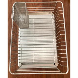 ムジルシリョウヒン(MUJI (無印良品))の無印 ステンレス 水切り バスケット トレー 箸置き大(収納/キッチン雑貨)