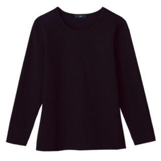 ディーエイチシー(DHC)の《新品》DHC ブラック なめらか起毛クルーネックカットソー(Tシャツ(長袖/七分))