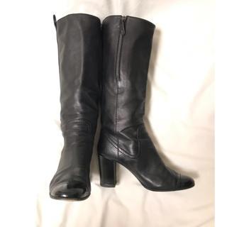 シャネル(CHANEL)の美品 CHANEL ロングブーツ 39サイズ ブラック シンプル シャネル(ブーツ)