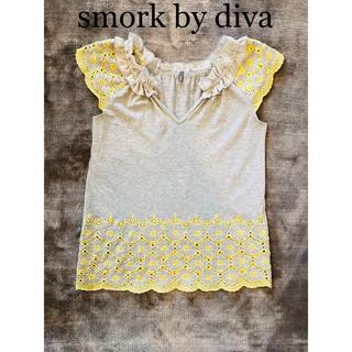スモーク(Smork)のsmork by diva 花柄トップス(Tシャツ(半袖/袖なし))