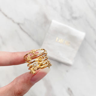 Dior - 【新品】Dior ディオール CDロゴ リング 指輪 サイズ52 ゴールド