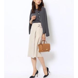 TOMORROWLAND - 【極美品】TOMORROWLAND フェイクスエード ラップスカート