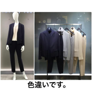 Theory luxe -  theory luxe 18AW ウールSAXONY パンツスーツ グレー38