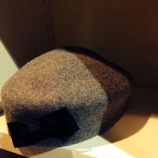 アパートメントマーケット(apartment market)のリボンベレー帽(ハンチング/ベレー帽)