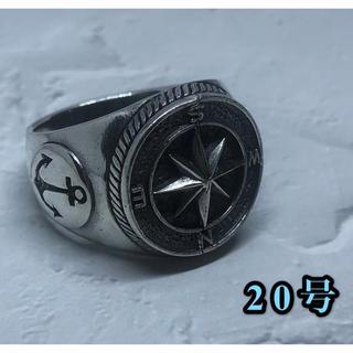 コンパス シルバー925リング 方位磁針 お守り 羅針盤 交通安全 銀 指輪(リング(指輪))