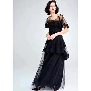ビーシービージーマックスアズリア(BCBGMAXAZRIA)の❤️BCBG 2020新作 新品 黒ロングドレス 綺麗ワンピース 結婚式 二次会(ロングドレス)