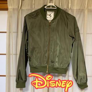Disney - ディズニー ミッキー MA-1風 ブルゾン カーキ