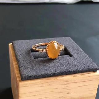 A貨 ヒスイ  翡翠 ダイヤモンド リング k18(リング(指輪))