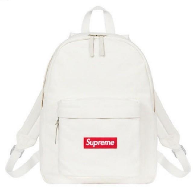 Supreme(シュプリーム)のsupreme Canvas Backpack 白 ホワイト シュプリーム メンズのバッグ(バッグパック/リュック)の商品写真