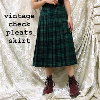 DEPT - vintage check pleats skirt ラメ入り USA古着