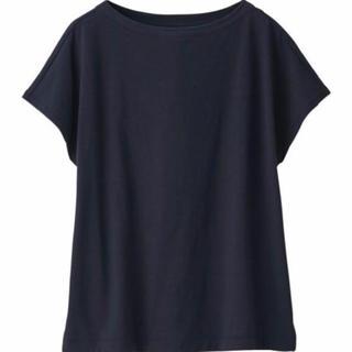MUJI (無印良品) - 無印良品  ムラ糸天竺編みフレンチスリーブTシャツ