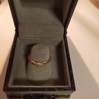 K18 ゴールド メレダイヤリング(リング(指輪))