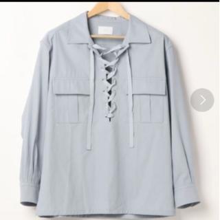 サンシー(SUNSEA)のURU 20SS レースアップシャツ (シャツ)