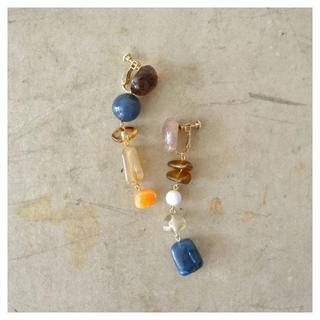 トゥデイフル(TODAYFUL)の[SALE]Asymmetry Long Stone BLUE(ピアス)